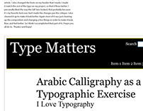 Webdesign Typography Assignemnt