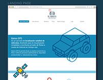 Diseño de sitio web Kairos GPS