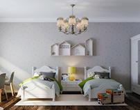Classic kIds room interior design