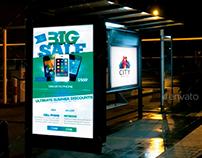 Bus Stops At Night Mock-Ups Pack