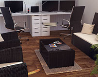 3D Office Interior Visualisation