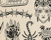 Flash Tattoo Illustrations