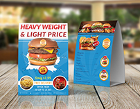 Burger Restaurant Table Tent Template