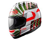 Corsair helmet graphic design.