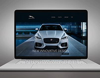 "Landing Page ""Test drive new Jaguar XF"""