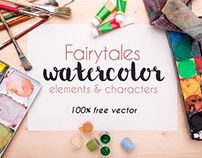 FREE FAIRYTALES WATERCOLOR BUNDLE