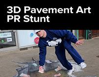 3D Pavement Art PR Stunt