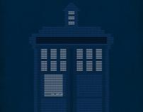Typography: Dr. Who/Doctor Who Hexadecimal TARDIS