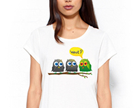 "Print on a T-shirt ""Owl Drug Dealer"""