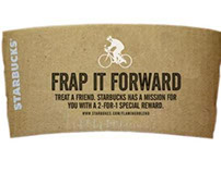 Starbucks, frap it forward.