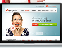 Gadgeto.cz - E-Store web design