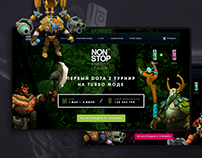 Dota 2 League Landing Page & Tournament Platform