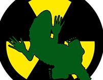 Radioactive Gecko - Funny T-Shirt Design
