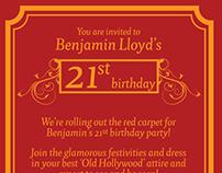 Ben's 21st Invitation
