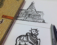 Tanjore Temple Illustrations :)