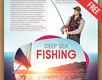 Deep Sea Fishing – Free PSD Flyer Template