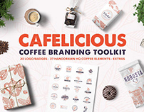 Cafelicious - Coffee Logo Kit