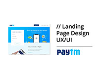 Landing Page Design for Paytm