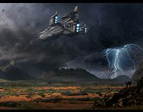 Sci Fi Space ship