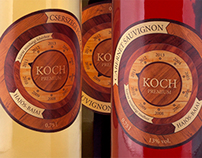 KOCH wine labels