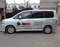 Skyline Global Logistic Voxy Cut-out Branding