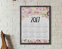 2017 Floral Calendar