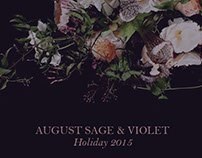 August Sage and Violet Holiday Proposal