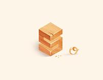 """wooden   """"S"""""""