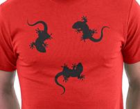 Cool 3 Lizards (Gecko) T-Shirt Design