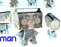 Sound Man Paper Craft Eloy Vektor x A2F