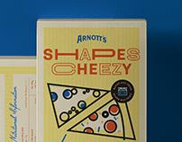 Arnott's Shapes Cheezy - Packaging Design