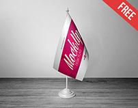 3 Free Desk Flag Mock-ups in PSD