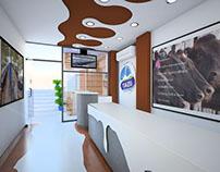 Interior Design - Themed Milk Shop - Islamabad