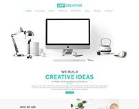 Minimal Portfolio PSD Template || ARP Creation