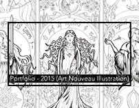 Portfolio: 2015 Illustration (Art Nouveau)