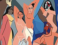 Les Demoiselles d'Avignon - Illustration