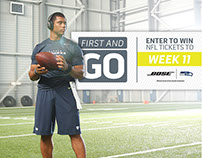 BOSE & NFL Social Media Content: Design & Retouching
