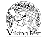 """Sounding Joy"" Viking fest Logo Design"