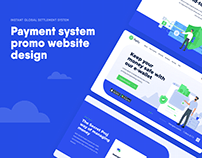Payment system promo website design