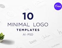 TOP 50 Free Minimalist Logo Templates PSD | AI