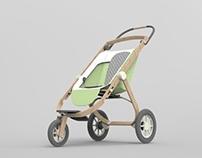 YorGo Modular plywood stroller