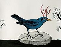 birds with horns