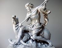 Rendering of Louvre Museum Photogrammetry 3D Models