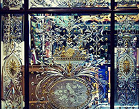 I made this ornate cut glass mirror in 2011