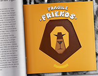 Fragile Friends book design&poster
