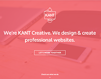 KANT Creative Website Redesign