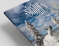 Sjusjøen - Helt naturlig: New logo + editorial design