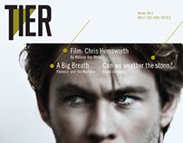 Magazine identity with feature article