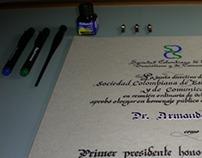 Diploma sociedad Colombiana