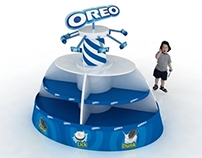 Oreo Carousel ride display